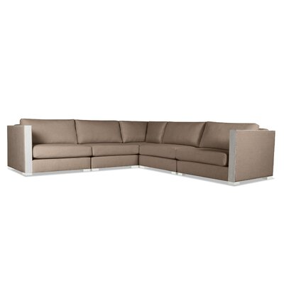 Steffi Right and Left Arms L-Shape Sectional Upholstery: Brown