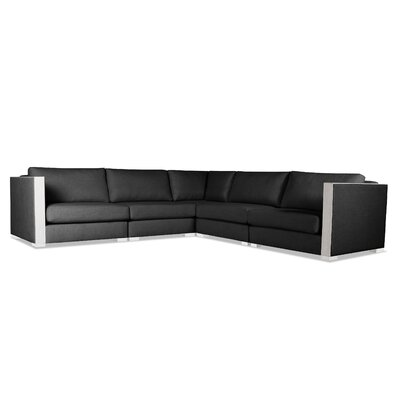 Steffi Right and Left Arms L-Shape Sectional Upholstery: Charcoal