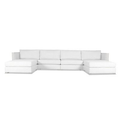 Steffi Double Chaise Sectional Upholstery: White