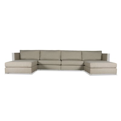 Steffi Double Chaise Sectional Upholstery: Sand