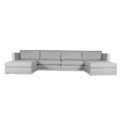 Steffi Double Chaise Sectional Upholstery: Gray