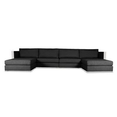 Steffi Double Chaise Sectional Upholstery: Charcoal