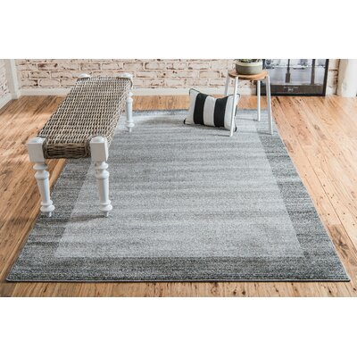 Christi Gray Area Rug Rug Size: Rectangle 9 x 12