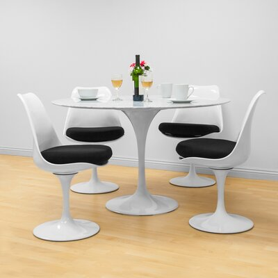 Crandell 5 Piece Dining Set Chair Color: Black