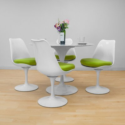 Crandell 5 Piece Dining Set Chair Color: Green