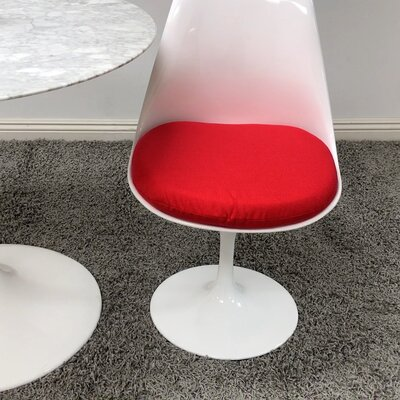 Salgado Dining Chair Upholstery Color: Red