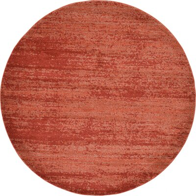 Barna Terracotta Area Rug Rug Size: Round 8