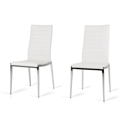Clower Side Chair Upholstery: White