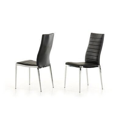 Clower Side Chair Upholstery: Black
