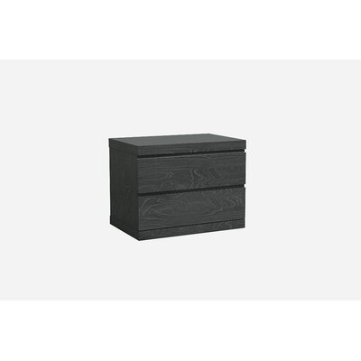 Salia 2 Drawer  Nightstand Color: Grey
