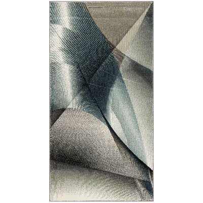Anne Gray/Teal Area Rug Rug Size: Rectangle 27 x 5