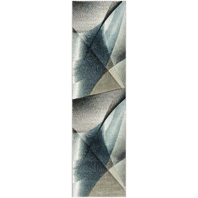 Anne Gray/Teal Area Rug Rug Size: Runner 22 x 8