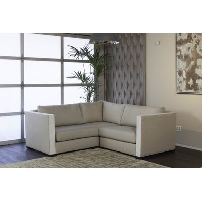 Steffi Solid Right and Left Arms L-Shape Modular Sectiona Upholstery: Sand