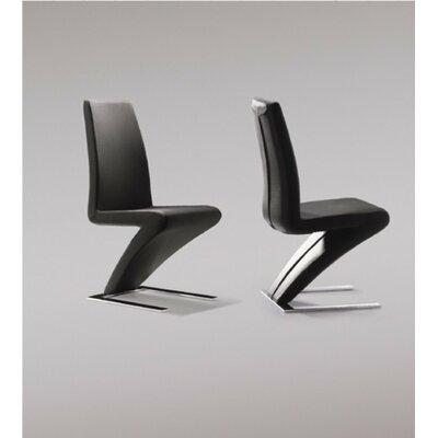 Camron Parsons Chair Upholstery: Black