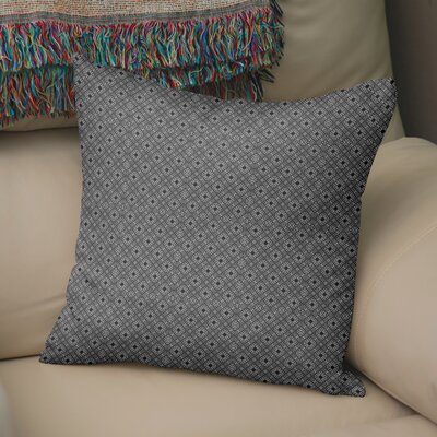 Raseborg Throw Pillow Color: White/Black, Size: 24 H x 24 W