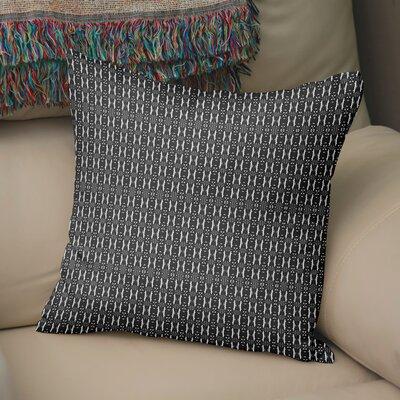 Ratcliffe Throw Pillow Color: White/Black, Size: 16 H x 16 W