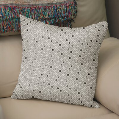 Ravello Throw Pillow Color: Black/Tan, Size: 24 H x 24 W