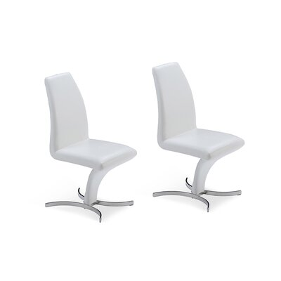 Clower Upholstered Dining Chair Color: White