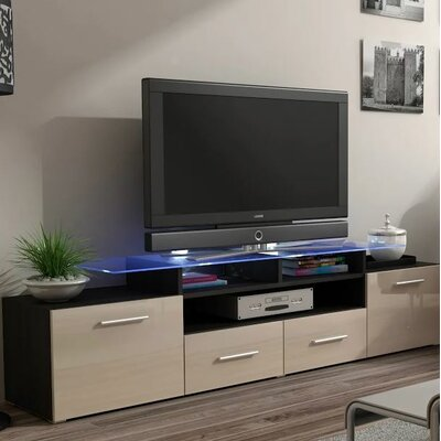 Damian 76 TV Stand Color: Wenge/Beige