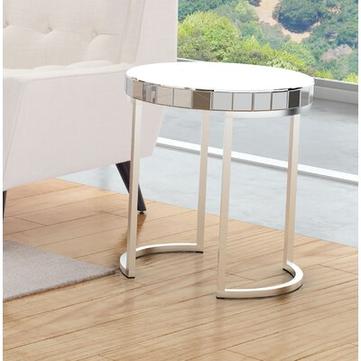 Tarik Mirrored Circular End Table