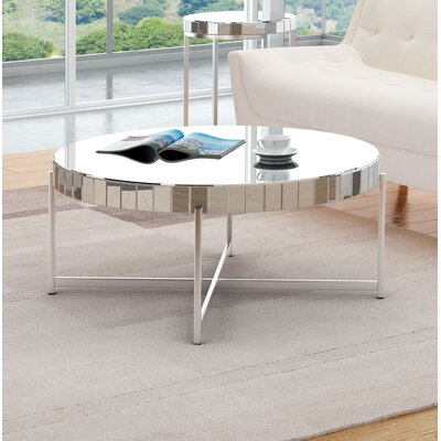 Maryluz Mirrored Circular Coffee Table