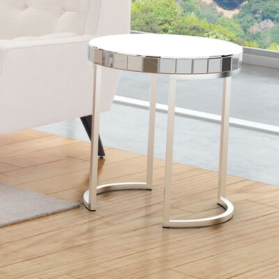 Aleia Mirrored Circular End Table