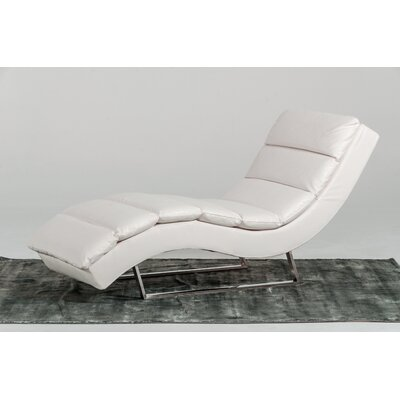 Coalpit Heath Chaise Lounge Upholstery: White