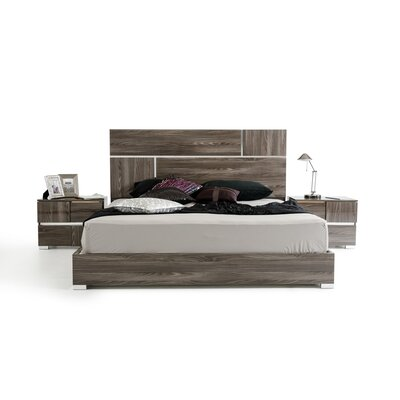 Falbo Panel Bed Size: Queen, Color: Gray