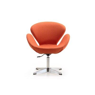Hero Adjustable Side Chair Upholstery: Orange