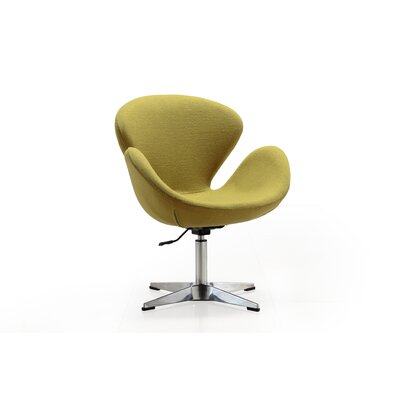 Hero Adjustable Side Chair Upholstery: Green