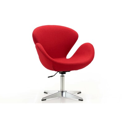 Hero Adjustable Side Chair Upholstery: Red