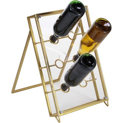 Miranda Tabletop Wine Bottle Rack Finish: Golden