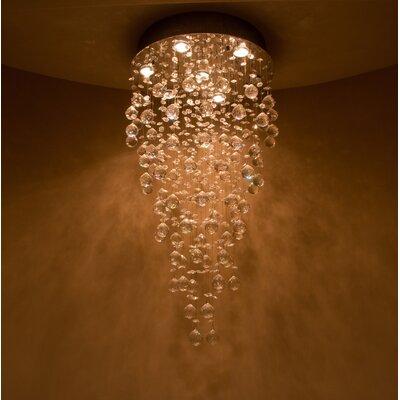 Leiker 9-Light Crystal Chandelier Diameter: 24