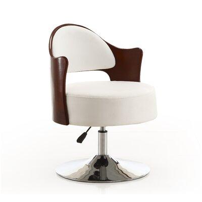 Henslee Adjustable Leather Barrel Chair