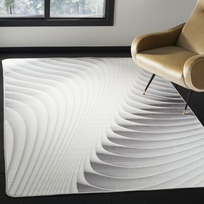 Cahoon Abstract Ivory Area Rug Rug Size: Rectangle 51 x 76