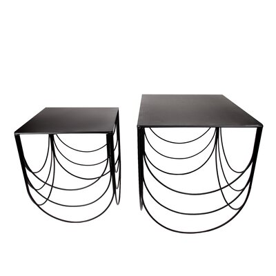 Scallop Height 2 Piece Nesting Table Set