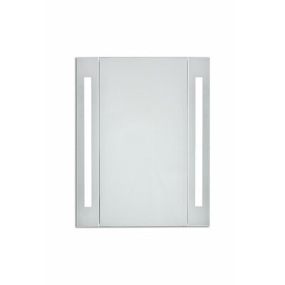 Corby 19.5 x 27.5 Surface Mount Medicine Cabinet with LED Lighting Color Temperature: 5000K