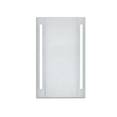 Corby 23.5 x 30 Surface Mount Medicine Cabinet with LED Lighting Color Temperature: 3000K