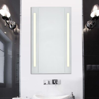 Corby 39.5 x 23.5 Surface Mount Medicine Cabinet with LED Lighting Color Temperature: 3000K