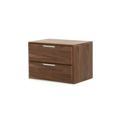 Colucci 2 Drawer Nightstand Color: Walnut