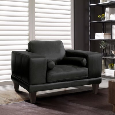 Randolph Contemporary Armchair Upholstery: Black