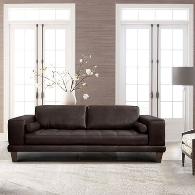 Randolph Contemporary Leather Sofa Upholstery: Espresso
