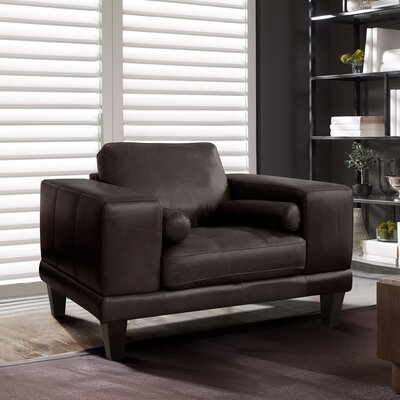 Randolph Contemporary Armchair Upholstery: Espresso