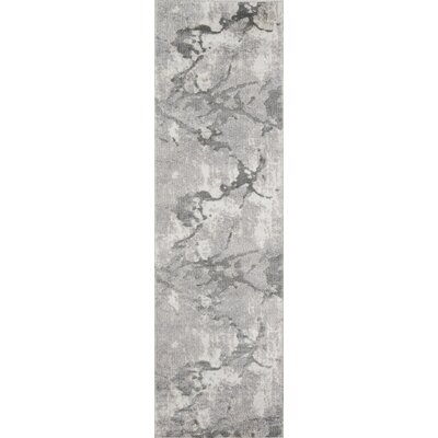 Northwick Modern Power Loom Indoor Gray Area Rug Rug Size: Runner 23 x 76