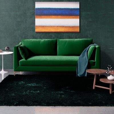 Dupuis Sofa Upholstery: Emerald Green