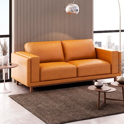 Walkerville Sofa Upholstery: Honey Tan