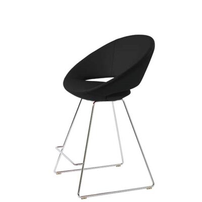 Hedgepeth 24 Bar Stool Seat Color: Black Leatherette
