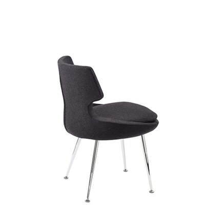 Hedges Upholstered Dining Chair Upholstery Color: Dark Gray