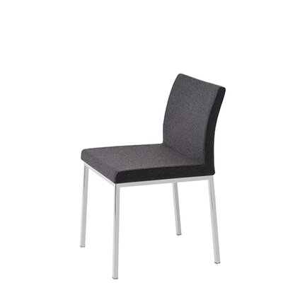 Heffington Upholstered Dining Chair Upholstery Color: Dark Gray