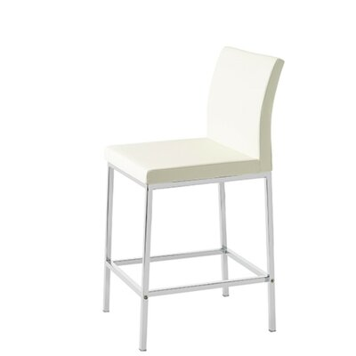 Heffington 29 Bar Stool Seat Color: White Leatherette